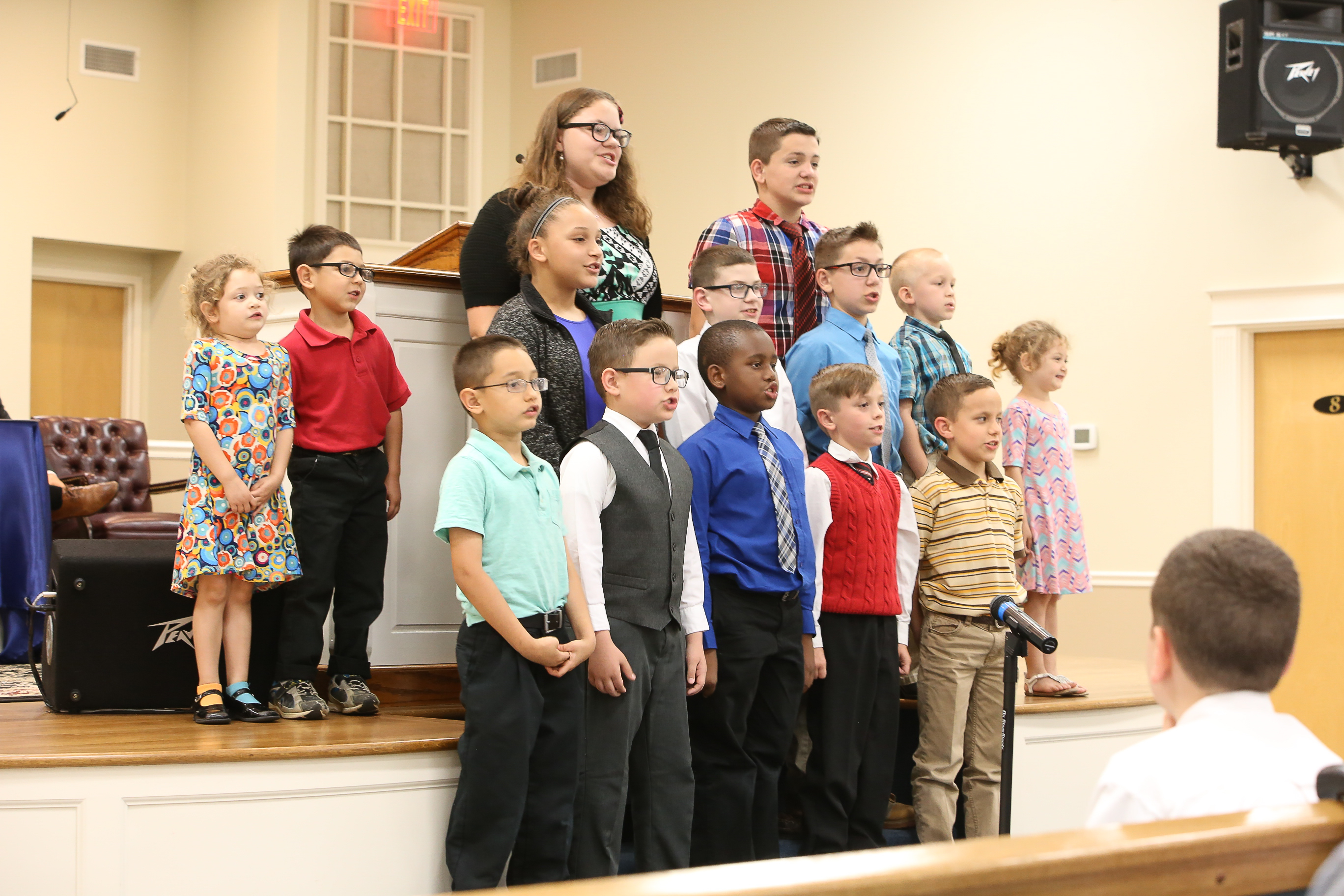 Our elementary students participate in Graduation services.